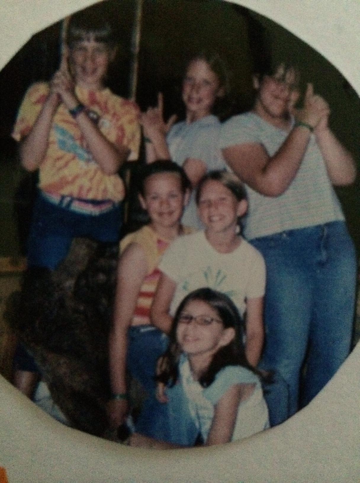 Back: Rachel, Korelle and Donelle. Middle: Rachel W. and Alyssa. Front: Me.