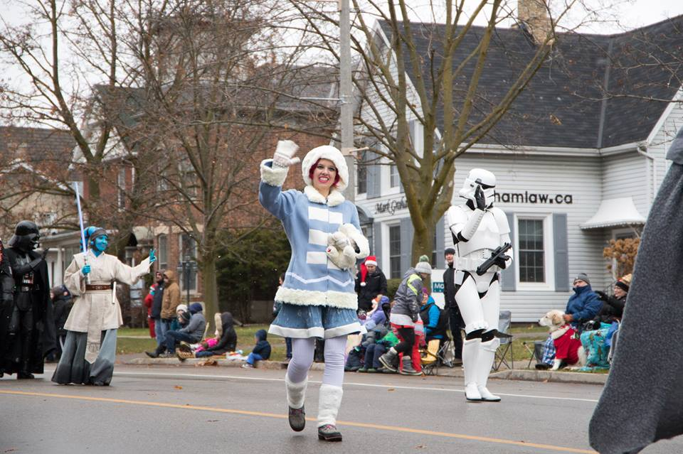 Annie from LOL for the Guelph Santa Clause Parade November 2017.
