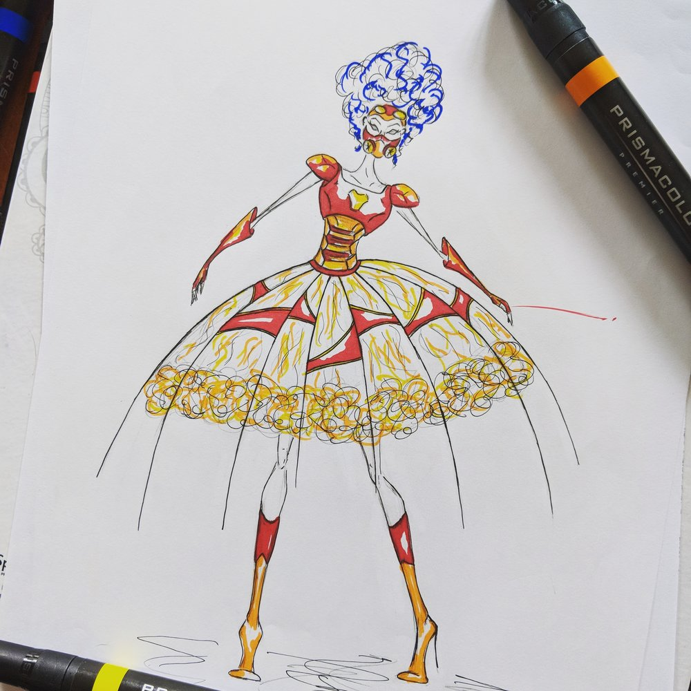 Ironman Ballgown Design for a friend
