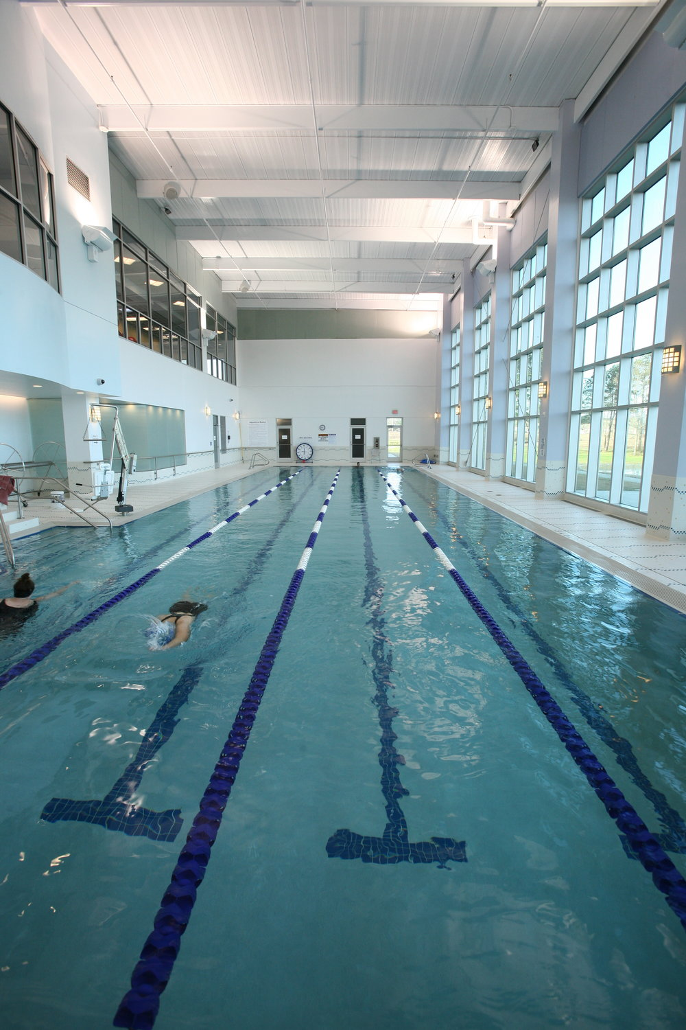 - Located within the Institute for Healthy Living, the Aquatic Center features a 25-meter heated four-lane lap pool designed with a zero step entrance ramp, heated lazy river resistance pool, cold water therapeutic immersion pool and four hot tubs, both private and co-ed. The center offers an adult fitness swim program, senior exercise classes, children's swimming lessons, aquatic exercise, aquatic arthritis classes and prenatal exercise classes.Click here to view the Aquatics Center Policies.