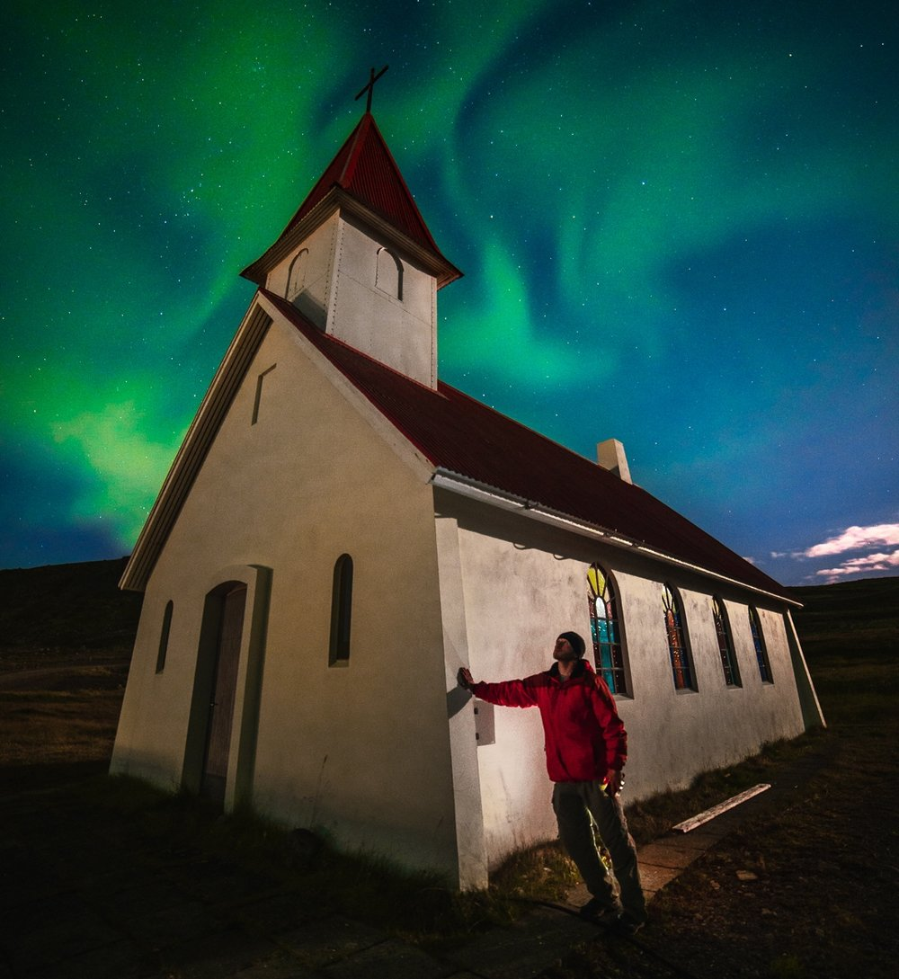 A 'selfie' on my recent trip to Iceland.