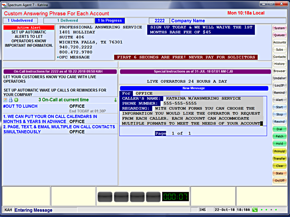 Example of Free Custom Account