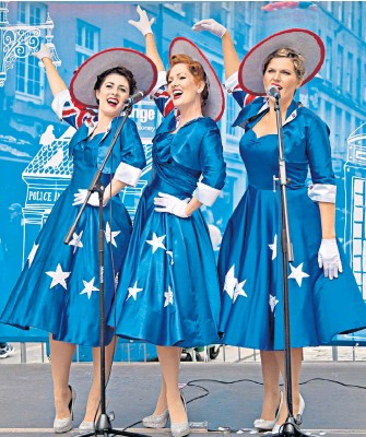 ' Down Under Blues . The Girls From Oz, a colourful and talented vocal harmony group of 'Sheilas' promoting their show 'Because, Because, Because, Because, Because', currently showing at The Space Theatre on the Isle of Dogs, London' - The Daily Telegraph, 15th Aug 2018