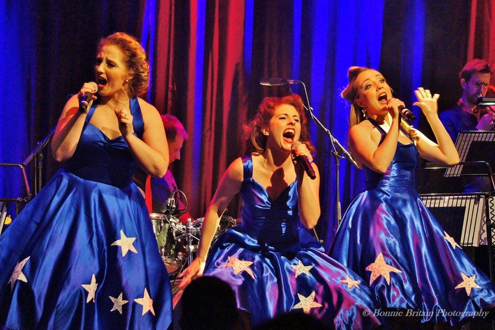 Natasha, Ashleigh and Sally at Live at the Hippodrome  Photo credit: Bonnie Britain