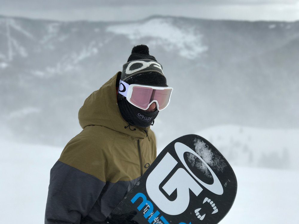 Line Miner - Line Miner Snow Goggle in White with PRIZM Hi Pink Iridium Photo by: Crockett Williams