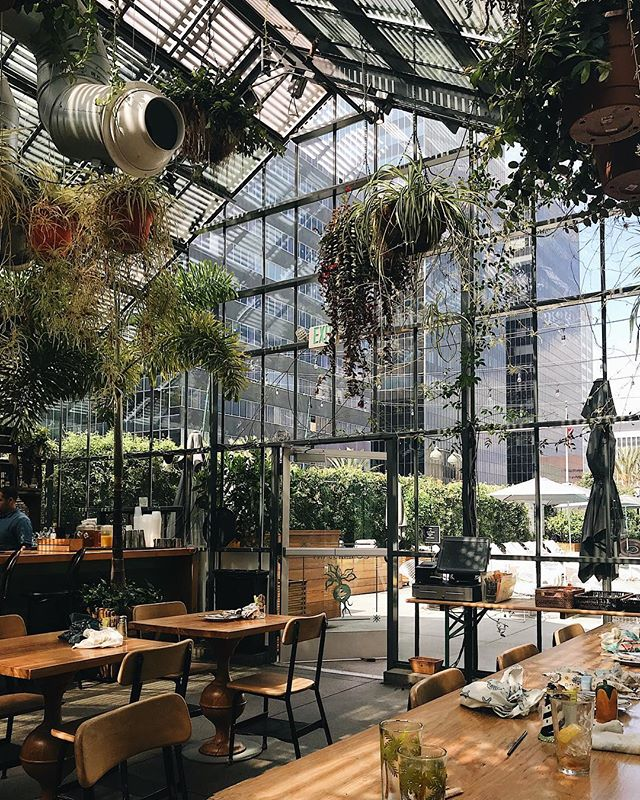 """Enjoy a delicious brunch with friends right at the base of the Line Hotel at this LA favorite, the """"Commissary"""" #thelinehotel #goStaycation"""