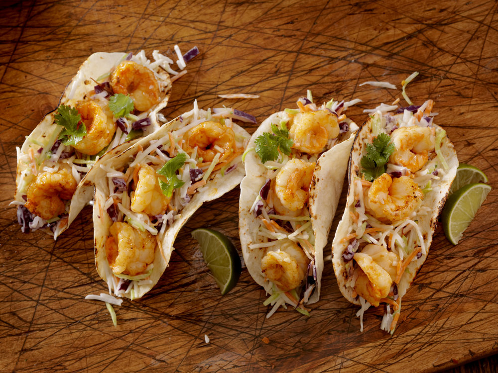baja style tacos - Fried or grilled. Served in soft corn tortillas with cabbage, corn, cilantro & creamy chipotle sauce. Fresh & light with a kick, these summer favorites come two to an order.