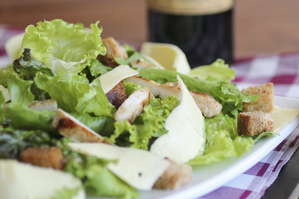 SALADS - Add your choice of : chicken $4.99 - shrimp $5.99 - salmon $5.99 - swordfish $6.99To your House or Caesar Salad