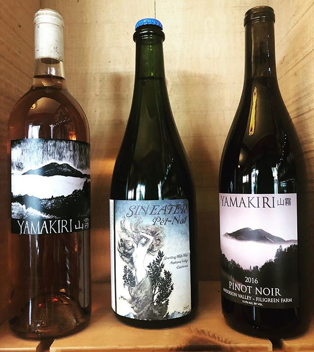 Stop by and sample these lovelies from Lisa Bauer of @yamakiriwines. 1-4 @northbraebottleshop #northberkeley #winetasting