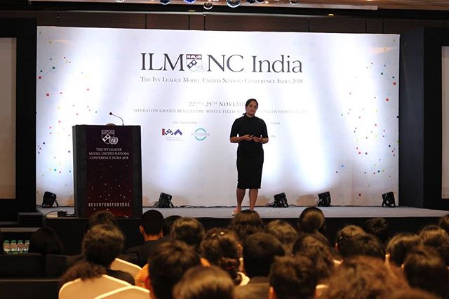 Thank you Lt. Cdr. Aishwarya Boddapati for sharing your amazing story and experience and inspiring the delegates of ILMUNC India 2018!  #ILMUNCIndia2018 #SpeakerSeries #LeadershipForum