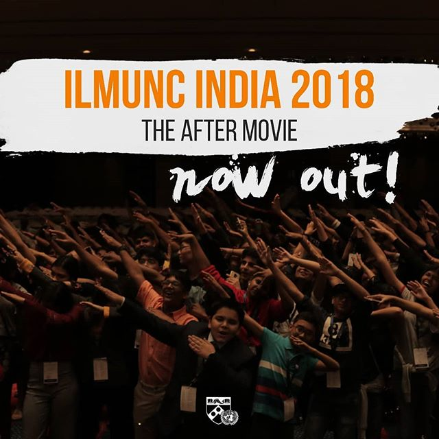 The After movie for ILMUNC India 2018 is now out!! Head to our profile and click the link in our bio to watch it!  #ILMUNCIndia2018 #EveryoneForSDGs