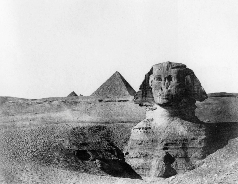 Maxime Du Champ - Le Sphinx, Egypt Moyenne 1849