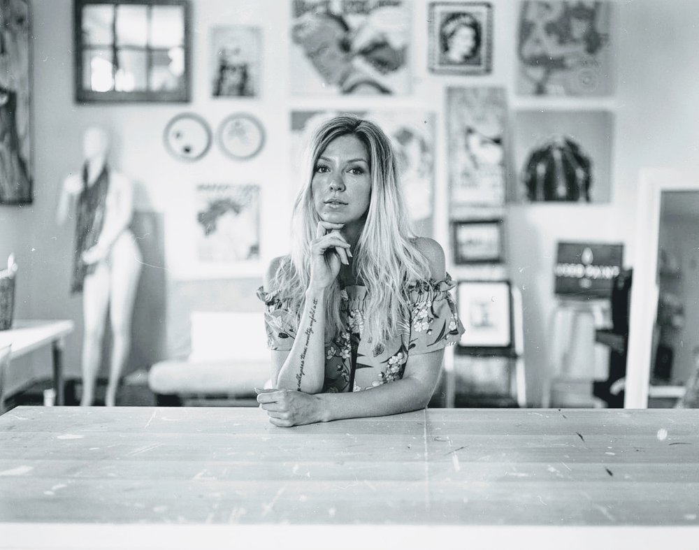 Maggie Hall in her NVRLND studio  Photo By: Wyatt Bronson