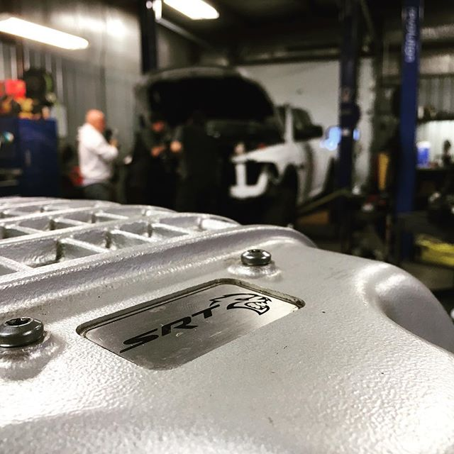 What's that in the background?  #hellcat #rebel #soon #dakotacustoms
