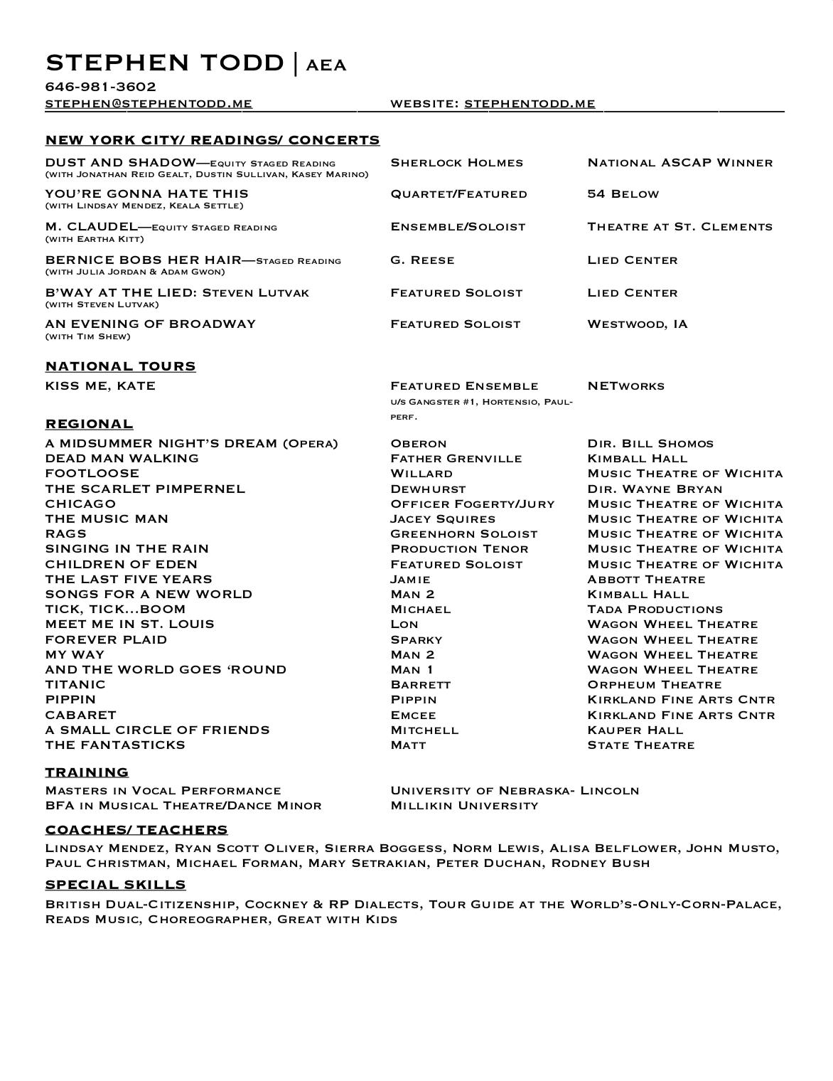 Tony Adjusted Resume Website