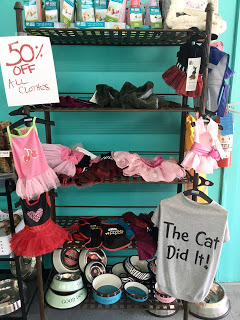 Stinky Dawg Wash also has a variety of clothing options for any occasion your pet might encounter. Each piece varies in price depending on size and style.