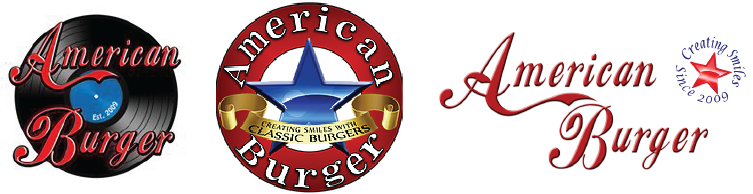 American Burger's current logos used for different applications.