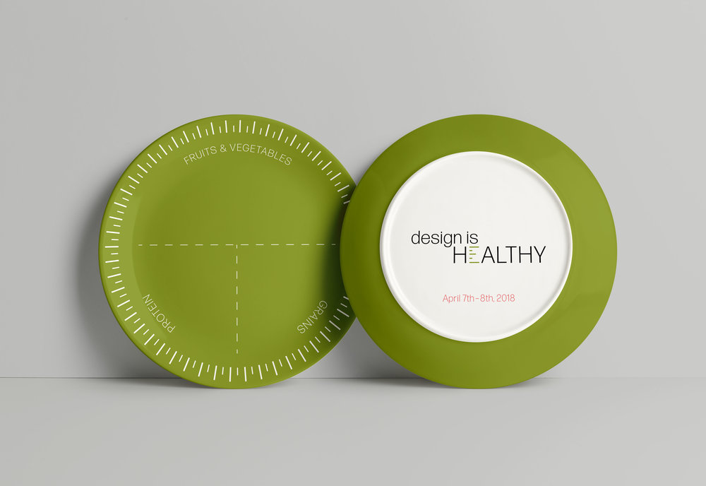 Portion plates are an easy way to keep track of food intake. These will be passed out to everyone attending the conference.
