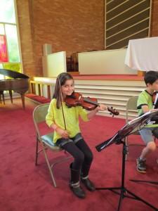 Kate on Violin I!
