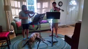 Bach Double rehearsal