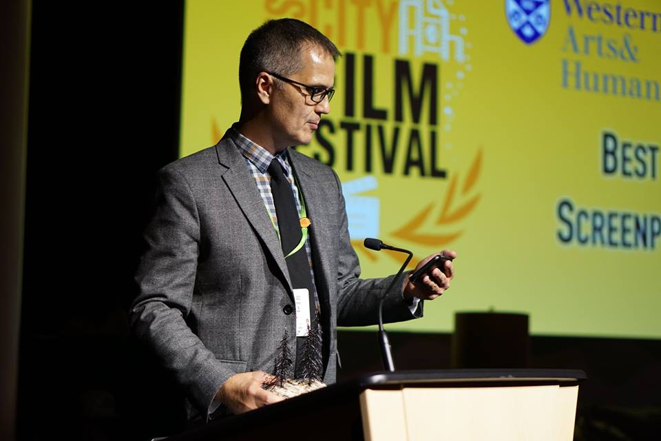 Instructor Jordan Morris at the 2018 Forest City Film Festival (photo by FCFF)