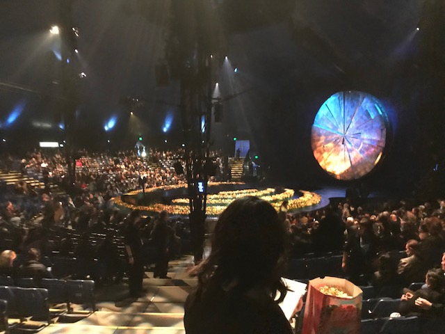 Stage and Seating at Luzia by Cirque Du Soleil in Costa Mesa, CA.
