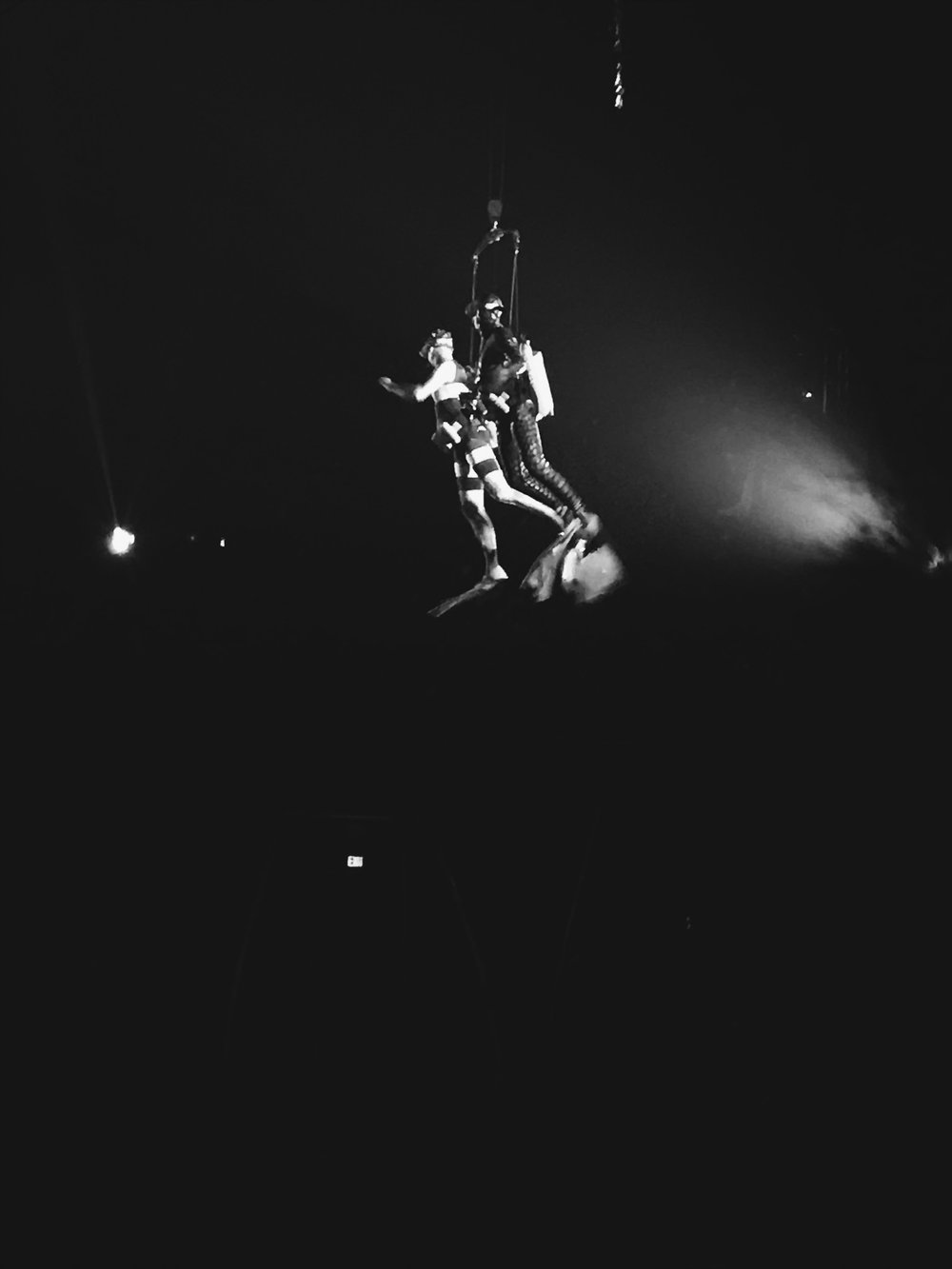 Scuba Steve with the Clown at Luzia by Cirque Du Soleil in Costa Mesa, CA.
