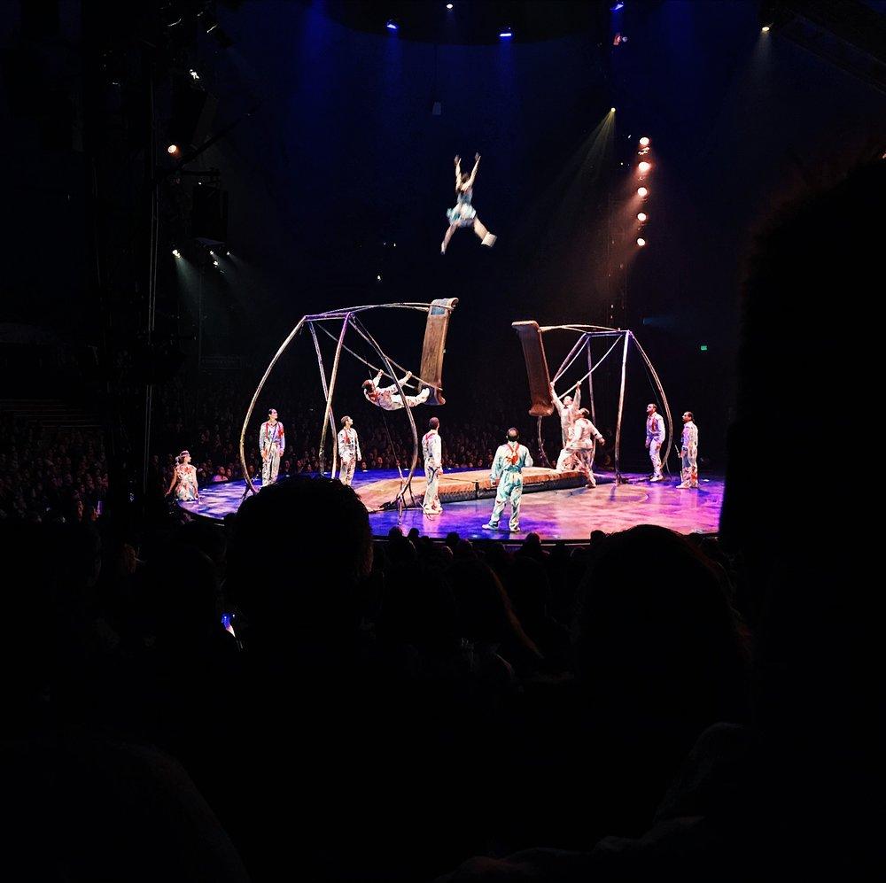 A unique, acrobatic performance at Luzia by Cirque Du Soleil in Costa Mesa, CA.