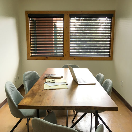 Fusebox Room - Set up 'boardroom' style this well-lit, cozy room can seat up to 8 people- 55