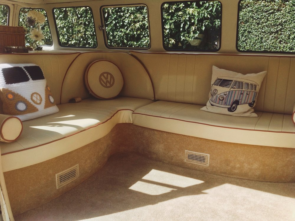 Arthur's  classic cream leather interior