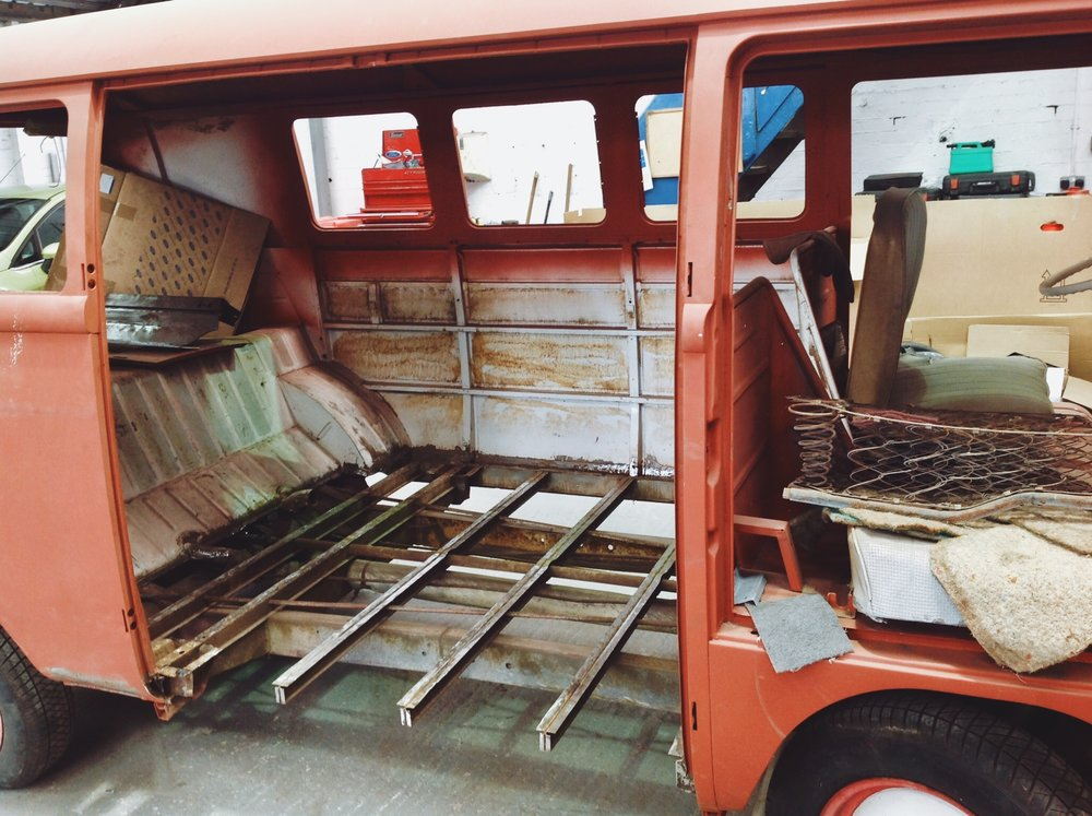 All of the vehicles were stripped back to basics, before Neil lovingly restored them.