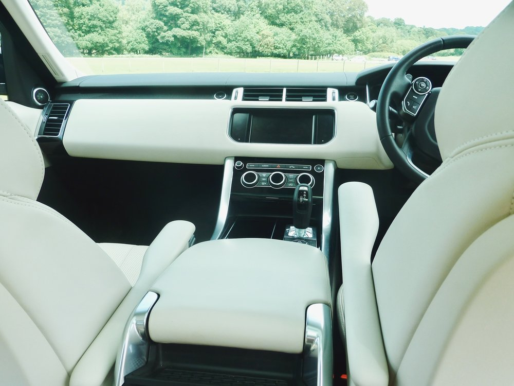 Luxurious ivory leather interior