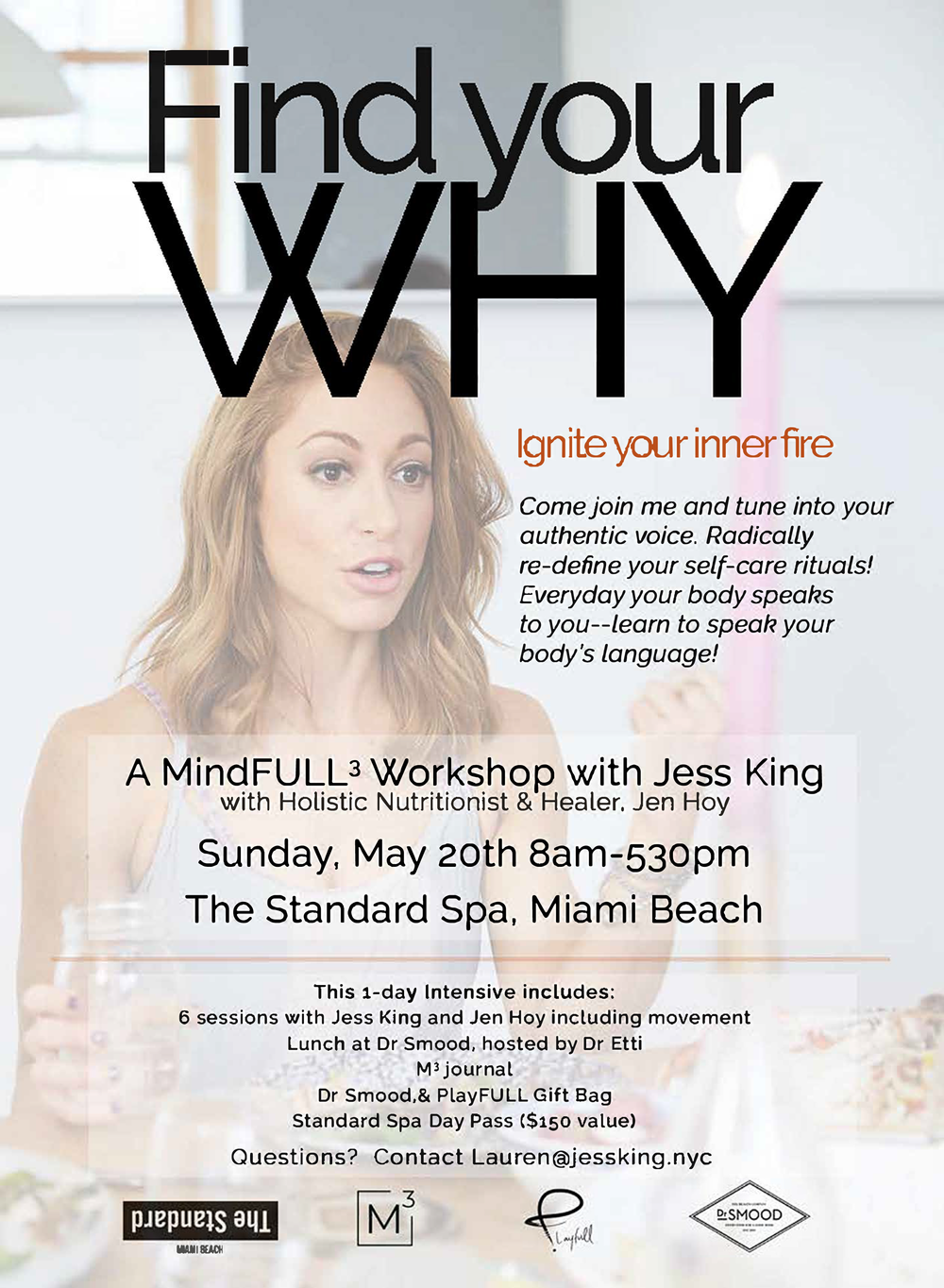 MAY 20 | A Mindfull3 Workshop with Jess King - Join Dr. Etti as she hosts lunch at Dr Smood and speaks about mindful eating and the relationship each of us has with food. Dr. Etti will explain how Dr Smood's products affect mind and mood for good, and the importance of tuning in to listen to the nutritional needs our bodies crave!8:00 A.M. - 5:30 P.M.
