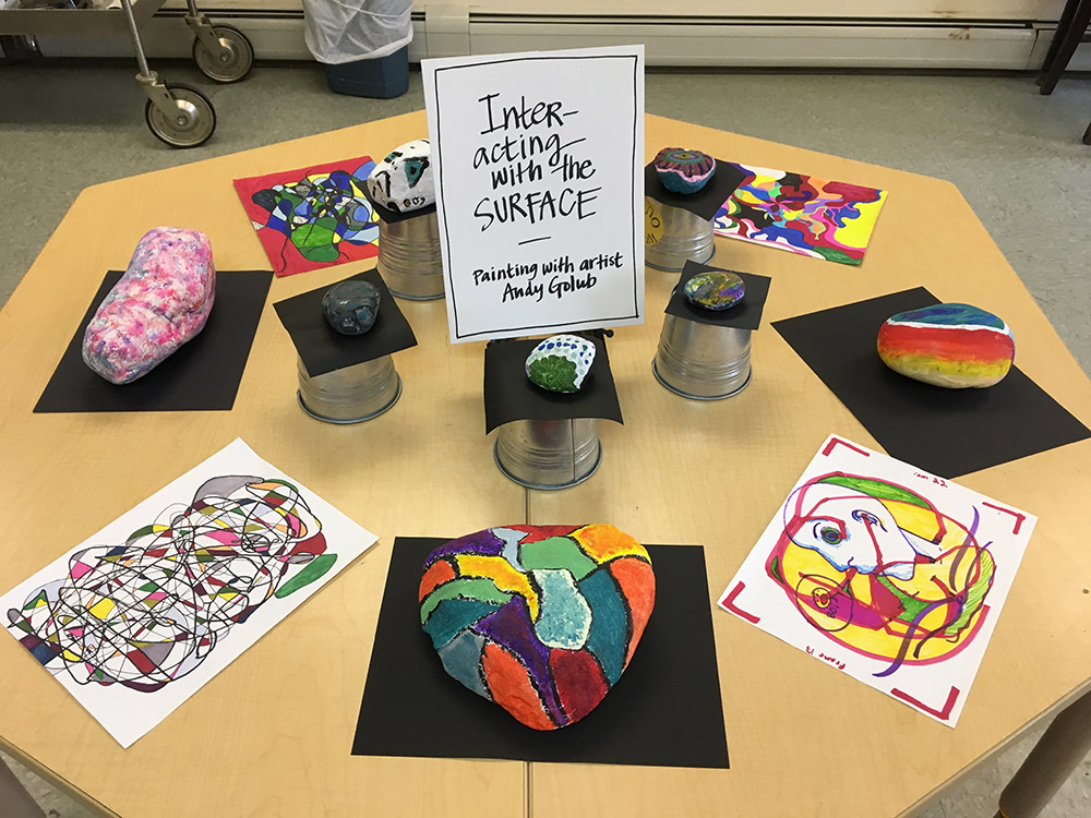 Middle school students engage in workshops with local artists.