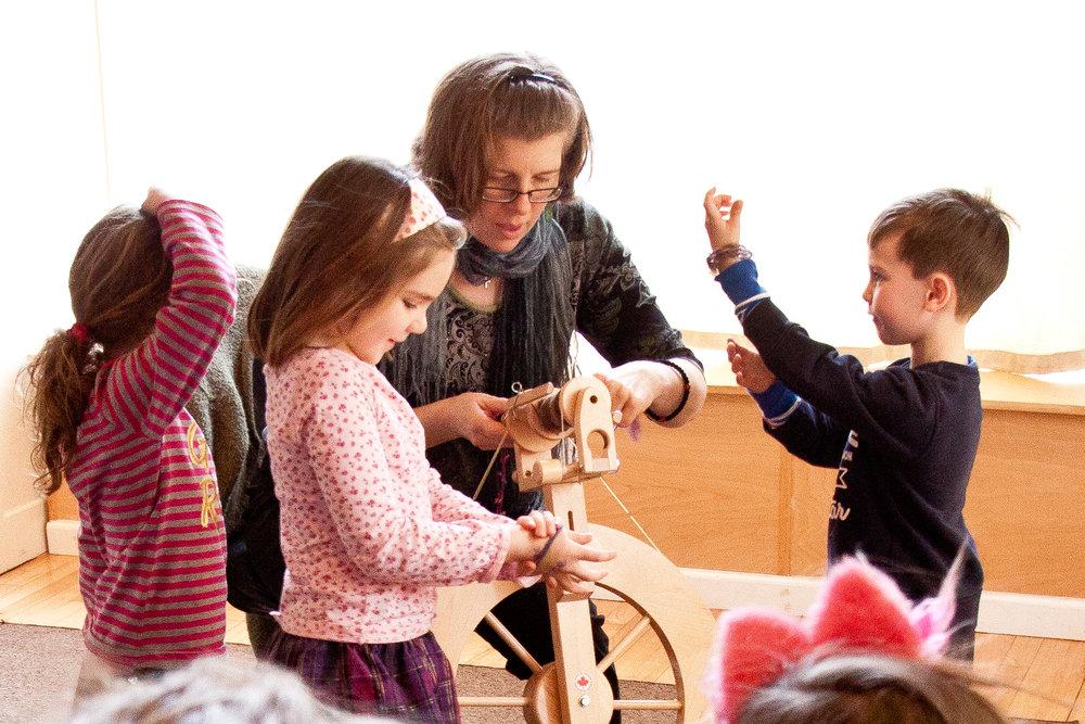 Students learn fundamentals of fiber arts
