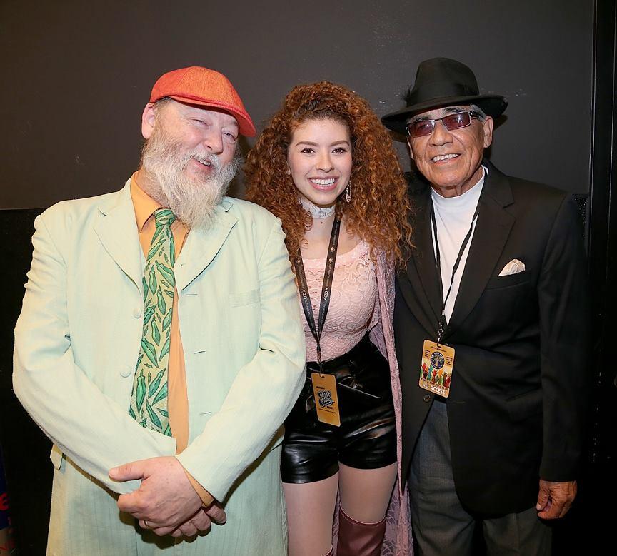Kevin Russell, Lesly Reynaga, Ruben Ramos (Gary Miller photo)