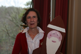 Cynthia and Santa December 7, 2011