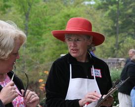 Anne assists a shopper