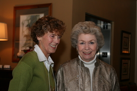 Sandy and Ellen at holiday luncheon December 7 2011