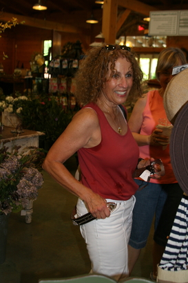 OK so Anita tried on a belt at Scottsdale Farm May 11, 2011