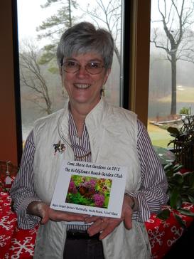 Carole selling the WFB 2012 Calendar