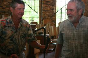 Larry Miller accepts 2011 Woodland Garden Award