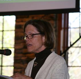 Judy Kauffman gives update on garden trail
