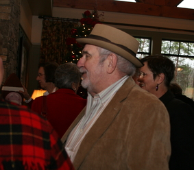 Larry Miller arrives for holiday luncheon