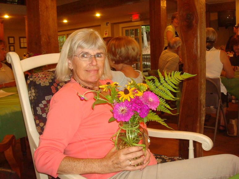 Ann at the plant swap