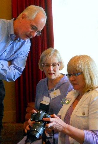 Randy, Susie & Linda discussing