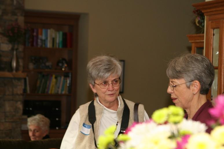 Jean Lomax with Carole English
