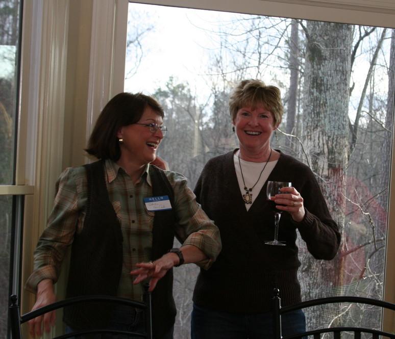 Sheila and Debbie having fun