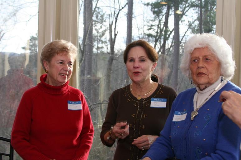 Anita, Mary and Lee having fun