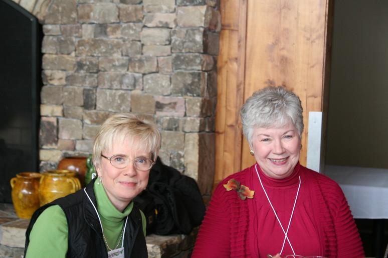 Deborah and Susie at opening